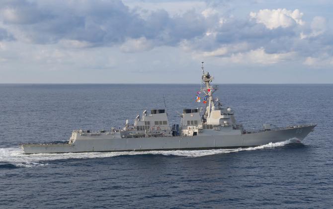 Distrugătorul USS Preble, sursă foto: US Navy