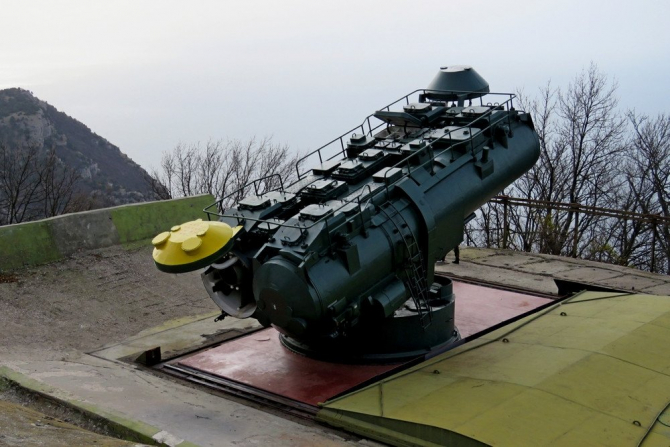 """sistemul ucrainean de apărare subacvatică de coastă """"Utyos"""" din Crimeea"""