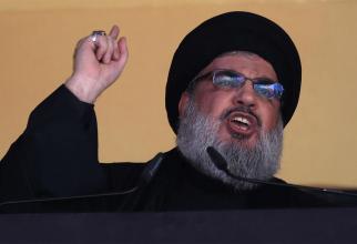 Şeful mişcării şiite libaneze Hezbollah, Sayyed Hassan Nasrallah