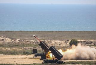 Tragere cu rachete Patriot în poligonul de la Capu Midia. Sursă foto: MApN