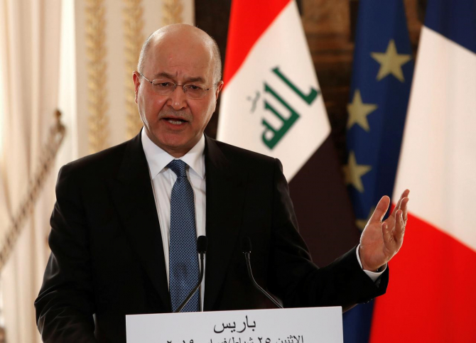 Preşedintele irakian Barham Saleh