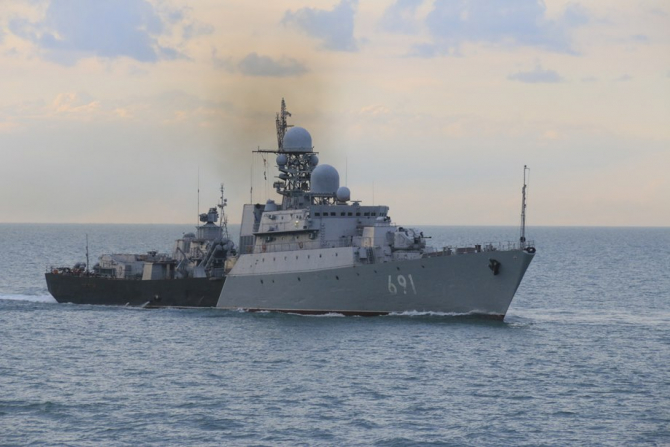 Fregata de tip Gepard (Proiectul 1166.1) Tatarstan este nava amiral a flotilei caspice a Rusiei