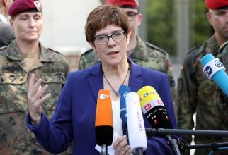 Noul ministru german al apărării, Annegret Kramp-Karrenbauer