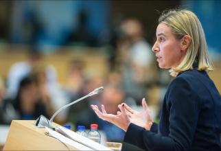 şefa diplomaţiei europene, Federica Mogherini