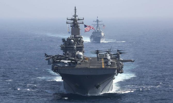 USS Kearsarge în Marea Arabiei
