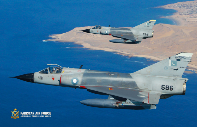 Avioane de luptă Mirage ale Pakistanului, sursă foto: Pakistan Air Force
