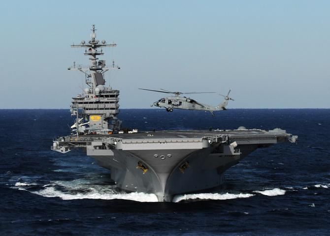 Portavionul USS George H.W. Bush, sursă foto: US Army