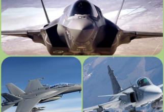 Colaj: F-35, F/A-18 Super Hornet și Gripen, avioanele rămase în bătălia pentru miliardele Canadei