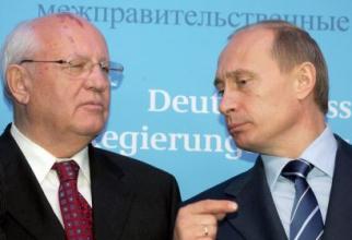Mihail Gorbaciov, ultimul lider al URSS și Vladimir Putin, actualul președinte al Rusiei