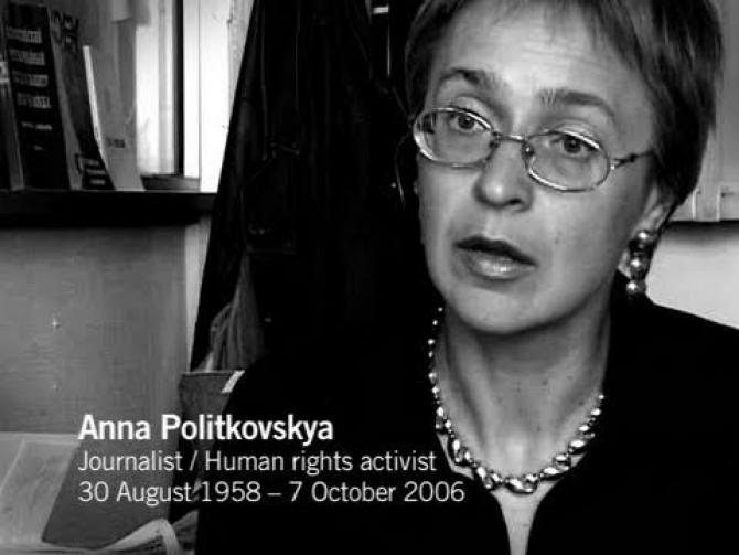 Jurnalista Anna Politkovskaia, împușcată mortal în Rusia în 2006