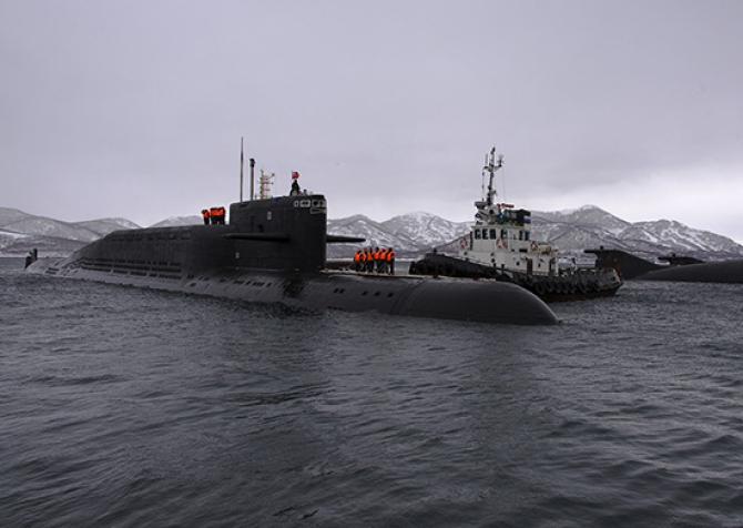 Submarinul nuclear rusesc Ryazan, sursă foto: Ministerul Apărării din Rusia