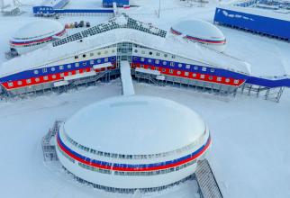 Baza militară rusească Trefoil din zona Arctică