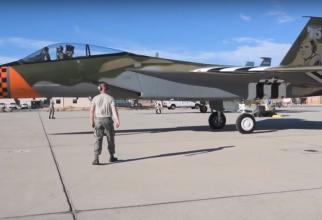 Un F-15 i-a adus tribut pilotului David Kingsley, a cărui bombardier a fost lovit deasupra României în timpul celui de-al Doilea Război Mondial