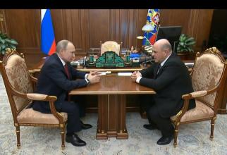 Foto: Președintele Vladimir Putin și Mihail Mişustin, noul premier al Rusiei