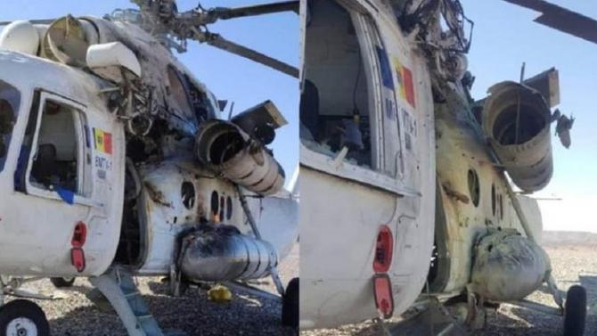 Elicopter al R, Moldova prăbușit în Afganistan. Sursă foto: www.deschide.md