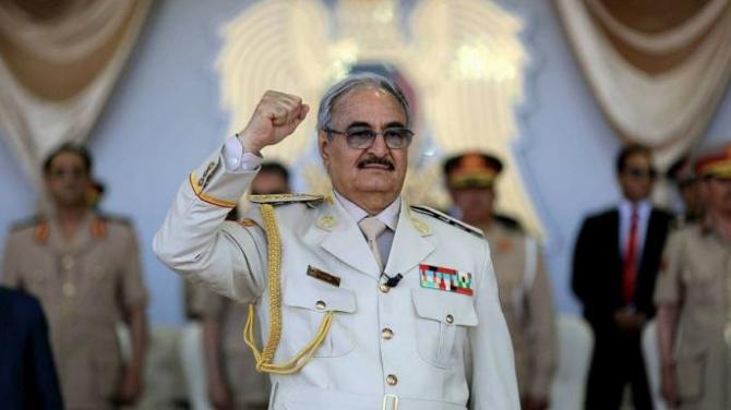 Generalul Khalifa Haftar, care conduce Armata Națională Libiană (ANL)