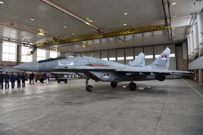 Aeronave sârbești MiG-29. Sursă foto: Ministerul Apărării din Belgrad