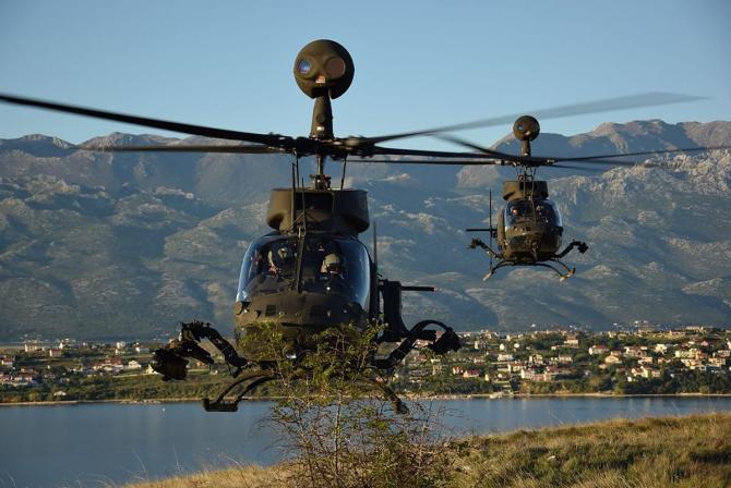 Elicoptere croate OH-58D Kiowa, sursă foto: Ministerul Apărării din Croația
