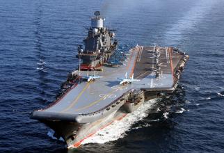 Portavionul Amiral Kuznețov, sursă foto: Ministerul Apărării de la Moscova