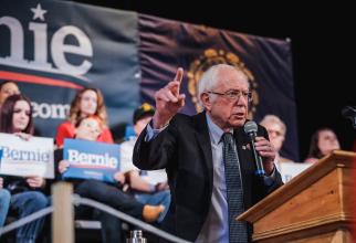Bernie Sanders, în timpul unui discurs politic. Sursă foto: Bernie Sanders Facebook