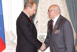 Președintele rus Vladimir Putin și Aleksei Botian, sursă foto: Kremlin