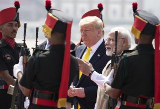 Preşedintele american Donald Trump, aflat în vizită în India