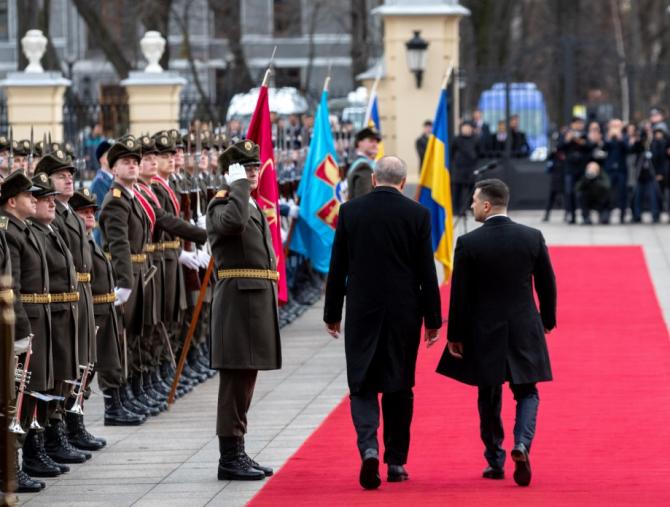 Volodimir Zelenski, președintele Ucarainei și Recep Tayyip Erdogan, președintele Turciei, aflat în vizită în Ucraina. Sursă foto: Președinția din Ucraina