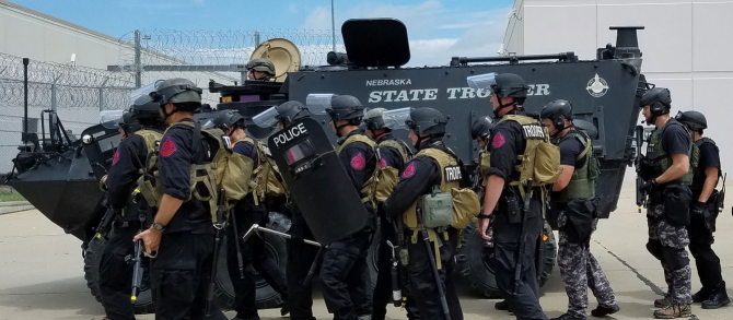 Trupe de poliție în Statele Unite ale Americii, sursă foto: Nebraska State Patrol