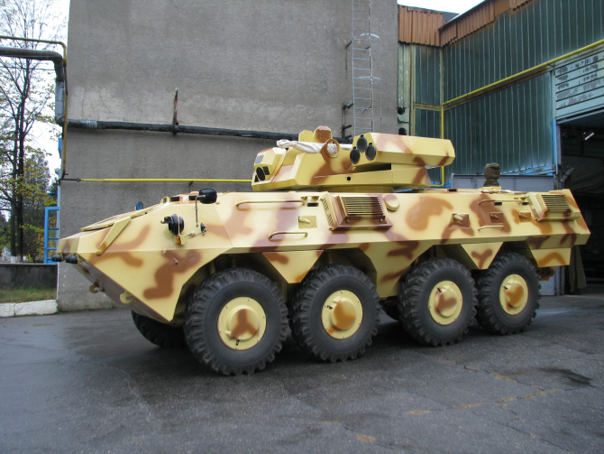 Transportor blindat amfibiu Saur 2, sursă foto: Romarm