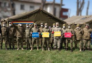 Militari români în sprijinul autorităților în lupta cu noul coronavirus, sursă foto: MApN Facebook
