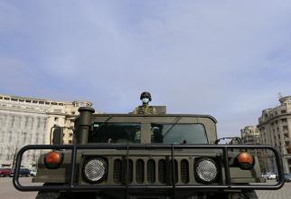 Armata română, pe străzile din Capitală, în contextul pandemiei de COVID-19, sursă foto: Facebook Ministerul Apărării