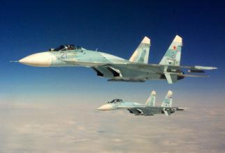 Avioane Su-27, sursă foto: Ministerul Apărării din Rusia