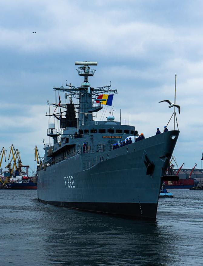 Fregata Regina Maria, sursă foto: Comandamentul Flotei, Facebook - Forțele Navale Române