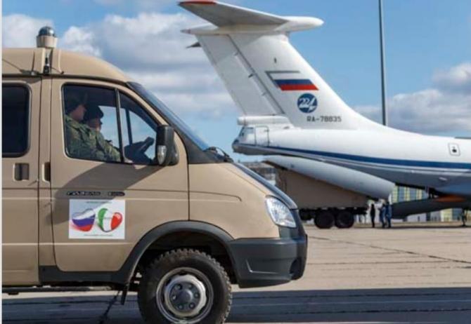 Imagini din timpul transportului ajutorului medical din Rusia către Italia, sursă foto: Ministerul Apărării rus