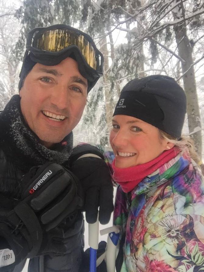 Justin Trudeau, premierul Canadei, și soția sa Sophie Gregoire Trudeau. Sursă foto: Sophie Trudeau Facebook