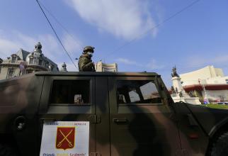 Armata României, pe străzile Capitalei, în lupta pentru combaterea COVID-19, sursă foto: Facebook MApN