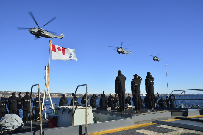 CH-124 Sea King, sursă foto: Royal Canadian Air Force Twitter
