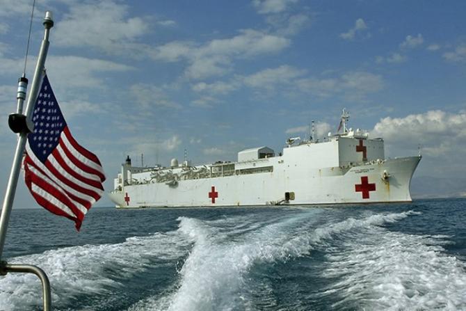 Nava spital USNS Comfort, sursă foto: Military Health System