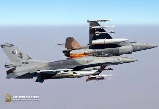 Aeronave F-16 ale Pakistanului, sursă foto: Pakistan Air Force