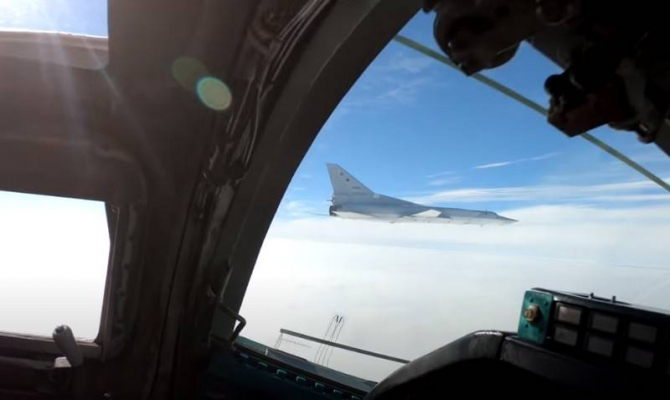 Bombardiere strategice cu rază lungă de acțiune de Tu-22M3. Sursa Foto: Ministerul rus al Apararii