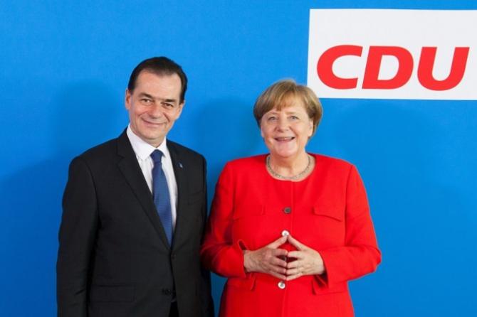 Premierul român Ludovic Orban și cancelarul german Angela Merkel