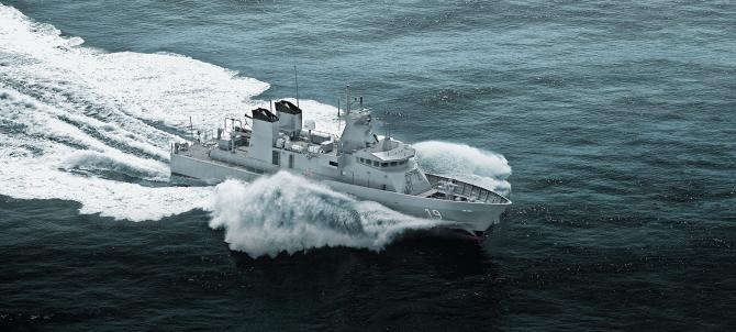 Navă de patrulare Lürssen, sursă foto: Lürssen Defense