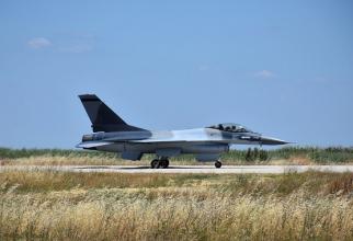 Un avion F-16 modernizat de OGMA care va fi livrat României. Sursă foto: OGMA