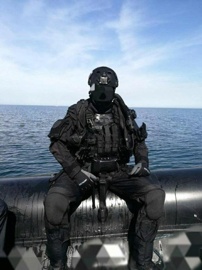 """Scafandru militar din grupul """"Vympel"""" din cadrul Forțelor Speciale ale FSB. Sursă foto: Unități speciale Rusia SPR - wk.com"""
