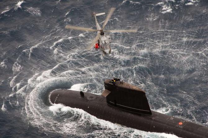 Submarinul nuclear francez Perle, sursă foto: Marina Franceză - Marine national