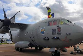 """Foto: Cer Senin - Revista Forțelor Aeriene, sursă: Bazei 90 Transport Aerian Otopeni """"Comandor aviator Gheorghe Bănciulescu"""" Facebook"""