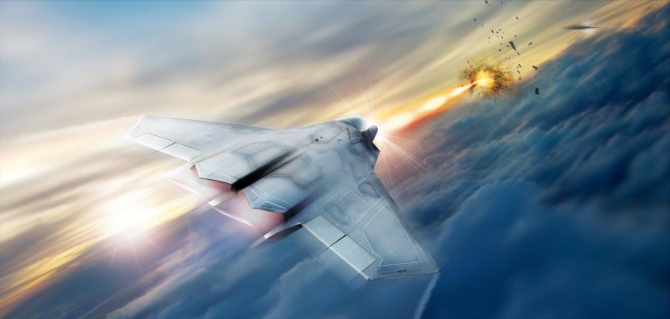 Programul laser SHiELD, imagine concept. Sursă foto: Lockheed Martin