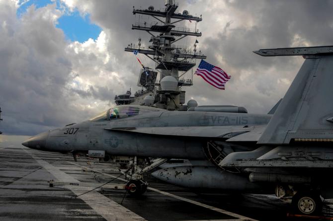 Sursă foto: USS Ronald Reagan Facebook