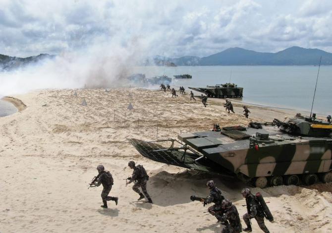 Armata de Eliberare a Poporului, în timpul unor exerciții militare. Sursă foto: Ministerul Apărării din China