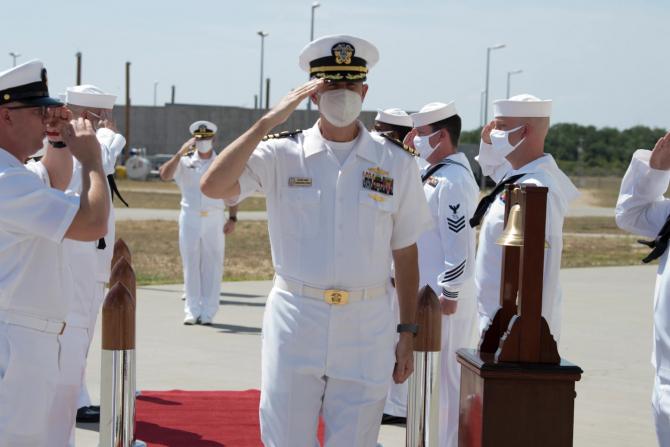 Comandorul Mike Dwan, noul comandant al sistemului AEGIS de la Deveselu
